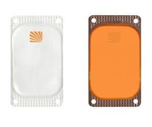 Cyalume Carton de 250 Balises Lumineuses Adhésives Rectangulaires Visipad Orange 10 Heures