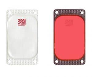 Cyalume Carton de 250 Balises Lumineuses Adhésives Rectangulaires Visipad Rouge 10 Heures