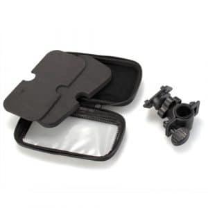 SODIAL (R)Support Velo Moto Housse Etui Protection Etanche Noir Pour GPS TOMTOM GARMIN