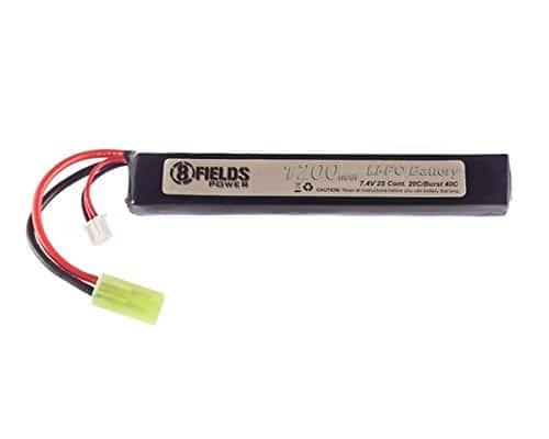 8Fields – Accessoire Airsoft – Batterie Lipo 7.4V 1200 Mah 8Fields