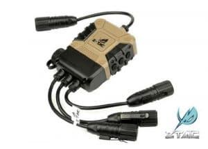 AIRSOFT ZTACTICAL SILYNX PTT STYLE DOUBLE MULTIPLE double radio Z40PS calme PRO PTT