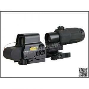 Emerson France Point Rouge / Red Dot Set Holosight EXPS3 & Magnifier Zoom X3 Noir