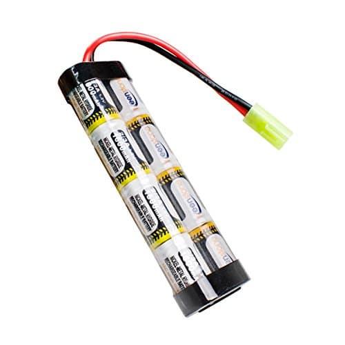 Keenstone Mini batterie NiMH plate 9,6 V 1600 mAh + mini connecteur Tamiya de haute performance pour fusil à air comprimé (U modèl)