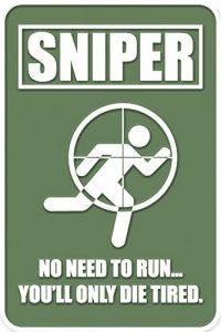 Sniper tactique en caoutchouc Moral Patch avec Velcro® Marque Crochet au dos.