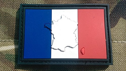 En relief France Français Drapeau Airsoft Moral Patch en PVC
