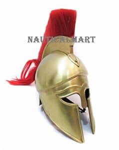 grec Corinthian casque avec Rouge Plume par Nauticalmart