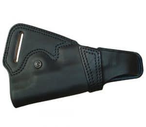 5.1 silhouette d?di? ?tui en arri?re (en cuir noir) No.262-BK gouvernement / Haikyapa (japon importation)