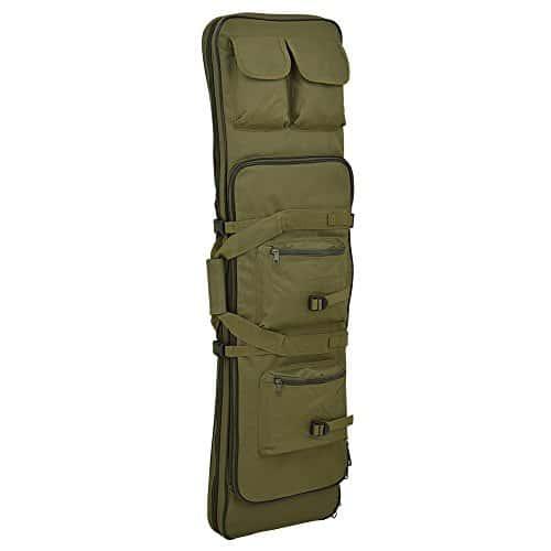 Liu-qu Tactical Shotgun et canne à pêche sacoche Housse avec bandoulière réglable, Green, 33inch