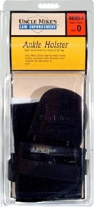 Uncle Mikes Ankle Holster Right Hand Size 0 – Soft Knit Fabric/Durable Comfort