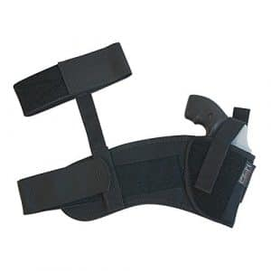 Uncle Mikes Black Ankle Holster Right Hand Size 12 – Soft Knit Fabric