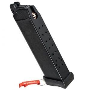 APS D-Mod Co2 Chargeur pour Marui G17 G18c, APS ACP601 & D-Mod Deluxe Airsoft GBB – AirsoftGoGo Porte-clés Inclus