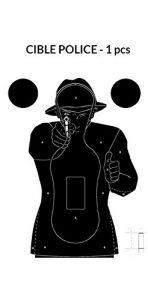 Cible silhouette Police 51x71Cm