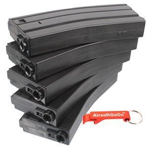E&C 30 Round M4 / M16 Series AEG Chargeur 5 pcs Box Set (Black) [pour Airsoft uniquement]