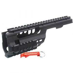 ABS Plastique MP5K / PDW, MOD5K Rail pour Airsoft Marui, JG, Classic Army, Galaxy AEG – AirsoftGoGo Keychain Inclus