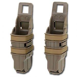 FMA Kit 2portacaricatori Fast Mag pour pistolet Airsoft, Tan