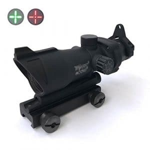H World EU Military Tactical ACOG Style 1×32 Red Green Dot Rifle Sight Scope ajustement 20mm QD Mount pour Airsoft Hunting AEG