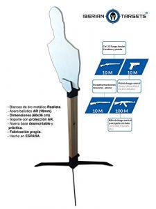 'Diana métallique en acier résistant pour tir. Pack Steel Target «Torse humain. Blanc de tir de métal.