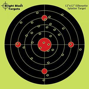 30,5cm Bullseye Reactive Splatter vue cibles–Instant Shot lumineux Blast–Voyez votre Hits instantanément | Compatible avec pistolet–Fusil–Pistolet–Airsoft–BB Gun–Pistolet à granulés–Air Fusil (50, 25paquets)