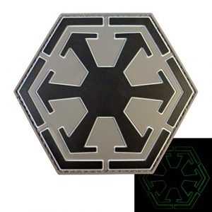 ACU Gray Star Wars Sith Empire Logo Old Republic PVC Gomme 3D Hook&Loop Écusson Patch