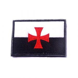 Aquiver Templiers Drapeau Croix Crusaders Tactical Moral à broder Touch Fermeture armée Patch sheng dian