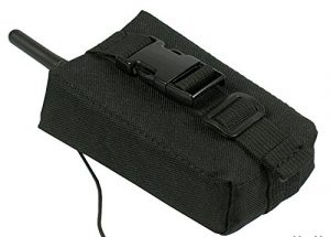 MOLLE tactical pouch bag Radio GPS Phone tactical airsoft paintball (black)