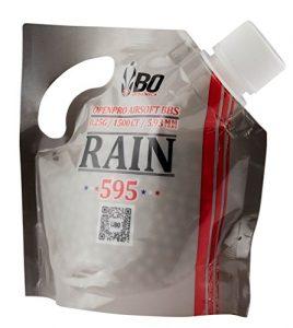SACHET DE 1500 BILLES BLANCHES 0.25 G 6 MM RAIN 595 BO DYNAMICS BBS1785 / BB5515 BILLE REPLIQUE PISTOLET FUSIL AIRSOFT BOUCHON REFERMABLE