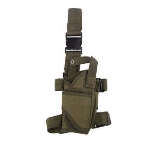 Docooler – Holster pistolet enveloppant cuisse et jambe pour châsse, vert militaire