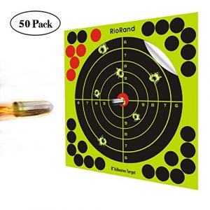 projections de prise de vue cibles 20,3cm Autocollant Papier réactif Cible Stickers pour pistolet Fusil Pistolet BB Gun Airsoft Granulés Pistolet à air Rifle