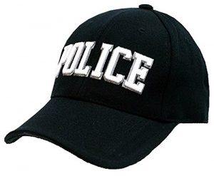 CASQUETTE TYPE BASEBALL NOIRE BRODEE POLICE 215151-213 AIRSOFT COUVRE TETE CHEF POLICIER NATIONAL MUNICIPAL FRANCE