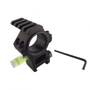 Champ de chasse Monté avec esprit Niveau de bulle Adapté 20 mm Picatinny pour fusil tactique Portée 25.4 / 30mm