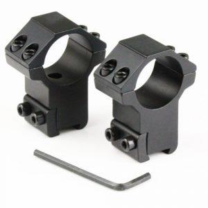 Lot de 2 colliers pour lunette de fusil 11mm