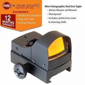 Rouge & vert pointillé holographique Vision REFLEX Vision idéal pour Airsoft & PAINTBALL – Red Dot Mini