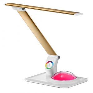 LED Nouveauté Face Source de Lumière LED Lampe à Oeil En Alliage D'aluminium Pliant Bureau Coloré Atmosphère Protection des Yeux Table Lampe GAOXP ( Color : Gold )