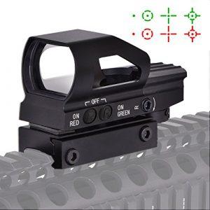 Beileshi rouge et vert point de vue réflexe de vue 4 réticules nouvelle conception sur et hors switch avec 20 mm rail mont
