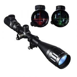 Donnagelia Lunette De Visée 6-24x50mm Avec Réticule Lumineux Optique Rouge/Vert Rifle Scope Pour Chasse Tactique