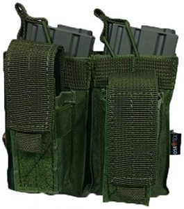 Oslotex Double Kanguro M4Pouch de Airsoft unisexe adulte Taille unique Vert militaire