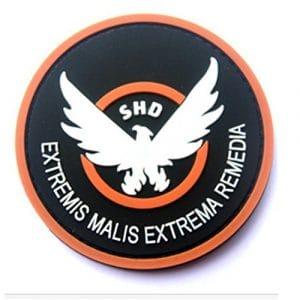 KingNew Correctifs de Jeu en Caoutchouc Division SHD Ailes Out Badge Moral en PVC Airsoft Patch