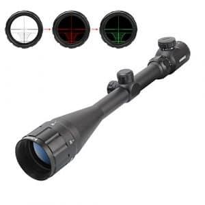ESSLNB Airsoft Lunettes de Visée 6-24×50 AOEG Mil-Dot Rouge et Vert Double illuminé Dot Sights Télémètre avec 20mm/22mm Weaver/Picatinny Rail Mount et Couvercle pour la Chasse