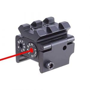 Huntiger Tactique Mini Pistolet Laser Réglable Red Dot Sight Compact Fit Rail Mount 20mm Chasse Scopes Airsoft Lunettes de Visée