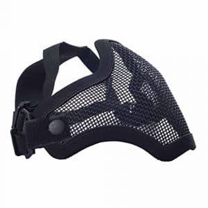 militar-tld Masque de protection pour airsoft (Ruban élastique réglable, grille métallique), couleur noir expédié 24heures