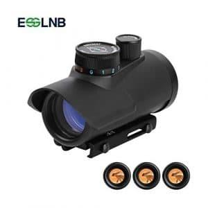 ESSLNB Airsoft Viseur Point Rouge 30mm Rouge/Vert / Bleu 3 Réglages de la Luminosité Portée de la Carabine pour la Chasse Spotting Positionnement de la visée pour Rail de Weaver/Picatinny 11mm / 22mm