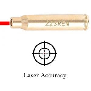 Huntiger Cal 223 5.56mm Bore Sight Laser Red Dot Laser Boresighter Brass Bore Sighter