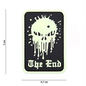 Patch 3D PVC Punisher « The End » Fluorescent / Cosplay / Airsoft / Camouflage