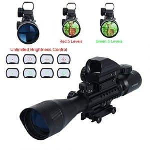 Latinaric Lunettes De Visée 4-12X50EG Avec 103 Viseur Point Holographique Vert Rouge Dot Sight Et Lumière Rouge Pour Chasse Tir