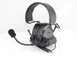 AIRSOFT TOMTAC COMTAC II 2 HEADSET MIC BOOM RADIO PELTOR DESIGN BLACK