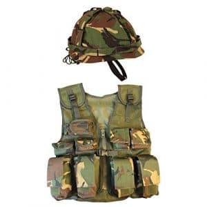 Kombat UK Enfants DPM Assault Gilet + Casque Lot, Camo, Taille Unique