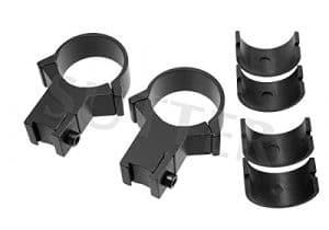 SUTTER® Montage d=30mm Forte * pour 11 mm Rails (avec Inserts réducteurs pour 25,4mm) – Montage pour Lunettes de visée