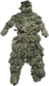 Mitef Ghillie Costumes Feuilles Camouflage Vêtements en Plein Air Armée Militaire Camo Vêtements, 3 Pièces Ensembles, Woodland
