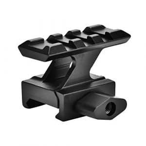 OKBY Montage sur Colonne – Adaptateur de Base Rail Picatinny 20 mm, Montage sur Lunette 20 mm, Noir