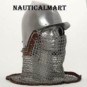 Tissu non-tissé à visière Armour Bassinet (casque) casque avec visière Grill par Nauticalmart